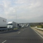 5 km of lorries waiting to cross between Bulgaria and Turkey